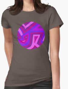 Purples (circle) Womens Fitted T-Shirt