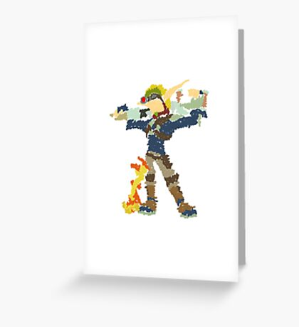 Jak and Daxter - Scribble Art Greeting Card