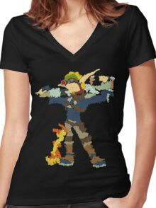 Jak and Daxter - Scribble Art Women's Fitted V-Neck T-Shirt