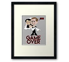 Couples Gamer Shirt Framed Print