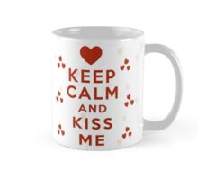 Keep Calm and Kiss Me Red Heart Mug