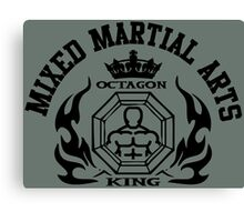 MMA Mixed Martial Arts Octagon King Canvas Print