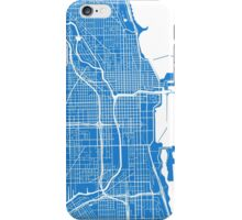 Chicago Map - Light Blue iPhone Case/Skin