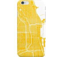 Chicago Map - Yellow iPhone Case/Skin