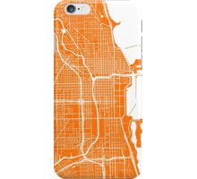 Chicago Map - Orange iPhone Case/Skin