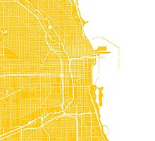 Chicago Map - Yellow by CartoCreative