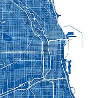 Chicago Map - Deep Blue by CartoCreative
