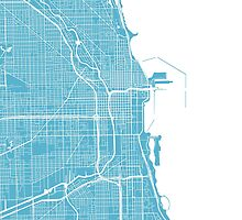 Chicago Map - Baby Blue by CartoCreative