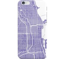 Chicago Map - Light Purple iPhone Case/Skin