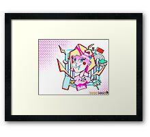 Crazed FanGirl Framed Print