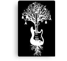 Nature Guitar White Tree Music Banksy Art Canvas Print
