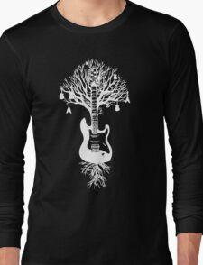 Nature Guitar White Tree Music Banksy Art Long Sleeve T-Shirt