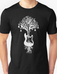 Nature Guitar White Tree Music Banksy Art Unisex T-Shirt