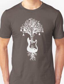 Nature Guitar White Tree Music Banksy Art T-Shirt