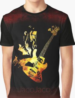 Jaco Pastorius Flame Graphic T-Shirt