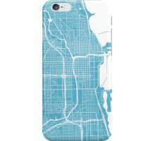 Chicago Map - Baby Blue iPhone Case/Skin