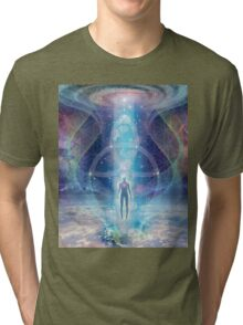 """""""A Spark of the Creator!"""" -   Trinity-  Sacred Geometry  Tri-blend T-Shirt"""