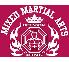 MMA Mixed Martial Arts Octagon King Photographic Print
