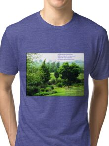 England's Green and Pleasant Land - Ortonish Vignette Tri-blend T-Shirt