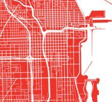 Chicago Map - Red Sticker