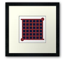 The Witness Red Ship Door Framed Print