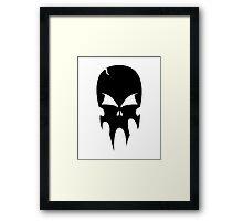 Skull - version 1 - black Framed Print