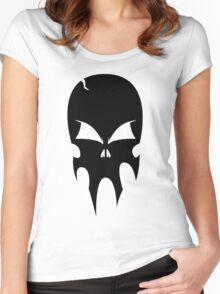 Skull - version 1 - black Women's Fitted Scoop T-Shirt