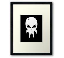 Skull - version 2 - white Framed Print
