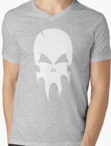 Skull - version 2 - white Mens V-Neck T-Shirt