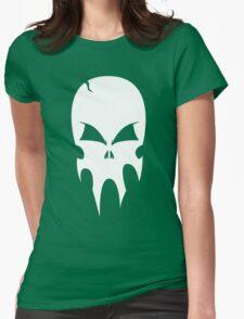Skull - version 2 - white Womens Fitted T-Shirt