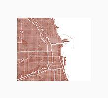 Chicago Map - Light Brown Unisex T-Shirt