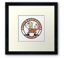 The Fighting Rebels with logo Framed Print