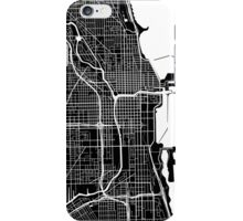 Chicago Map - Black iPhone Case/Skin