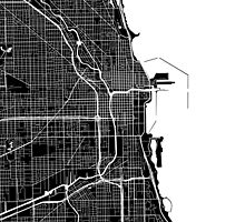 Chicago Map - Black by CartoCreative