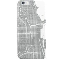 Chicago Map - Light Grey iPhone Case/Skin