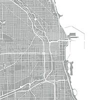 Chicago Map - Light Grey by CartoCreative
