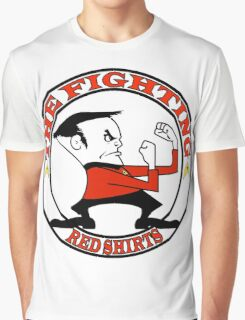 The Fighting Red Shirts with logo Graphic T-Shirt