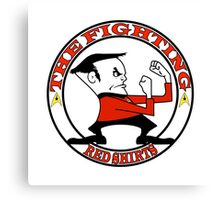 The Fighting Red Shirts with logo Canvas Print