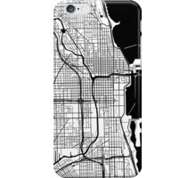 Chicago Map - Black Inverted iPhone Case/Skin
