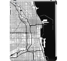 Chicago Map - Black Inverted iPad Case/Skin
