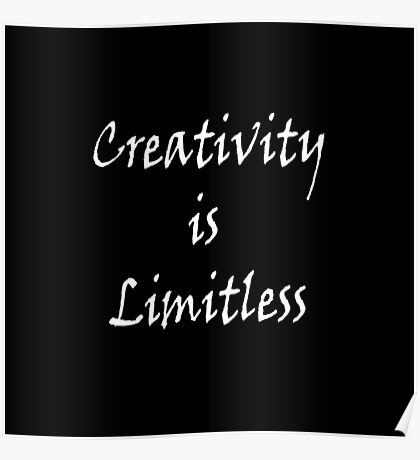 Creativity is Limitless Two Poster