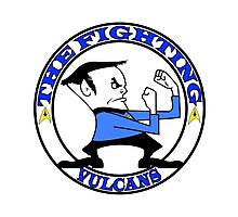 The Fighting Vulcans with logo Photographic Print