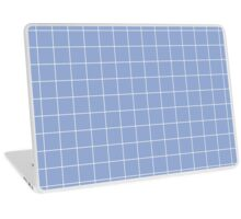 Large Grid - Pantone Serenity Laptop Skin