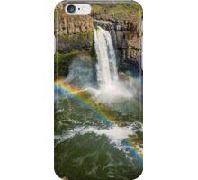 Palouse Falls Double Rainbow iPhone Case/Skin