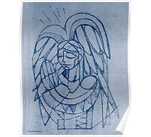 Guardian angel illustration Poster