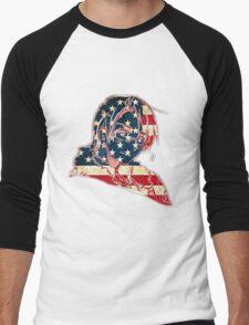America and His Flag Men's Baseball ¾ T-Shirt