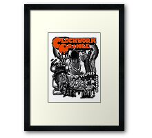 Clockwork Orange Graphic Framed Print