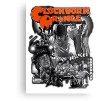 Clockwork Orange Graphic Metal Print