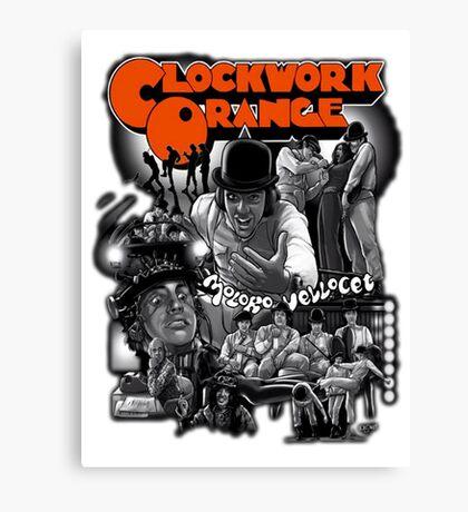 Clockwork Orange Graphic Canvas Print