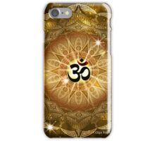 Golden Sound of Om iPhone Case/Skin